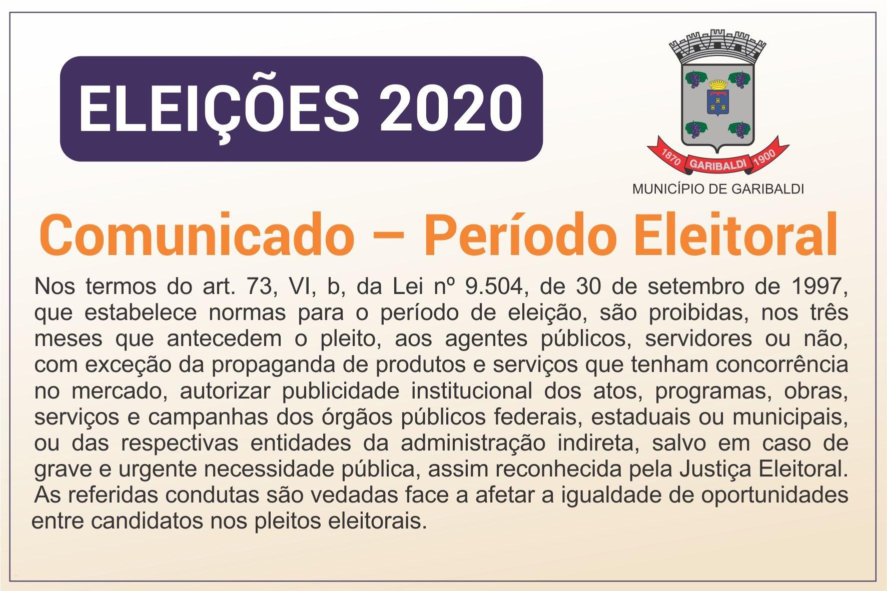 Foto Comunicado Período Eleitoral 2020